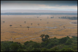 Rain over Masai Mara makes it impossible to use the roads