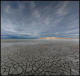 A dry lake