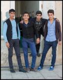 Young men in Qobustan