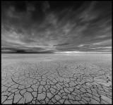 A dry lake in Azerbaijan