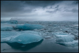 Icebergs inside Lake Jökulsarlon