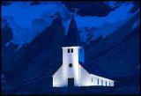 Vik church at dawn
