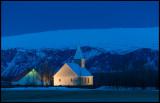 Stóru-Borg church at dawn