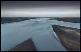 Stony delta near a glacier on the south coast