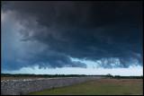 Thunder clouds passing southern Öland at Karl X wall