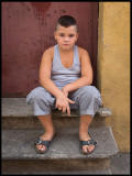Little boy in Perpignan - France