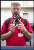 Mirror selfie visiting Visa Pour L`image in Perpignan