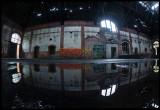 Machinery hall with graffiti