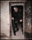 Getting access to the buildings using one of the many basement tunnels