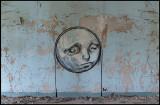 Artistic graffiti in the men`s house