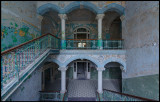 The entrance hall in one of the men`s buildings