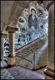 Advanced graffiti in mens sanatorie building