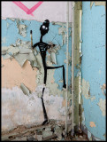 Artistic grafitti climber