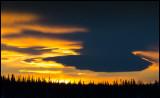 Evening sky near Verdal