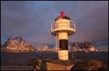 Reine harbor lighthouse
