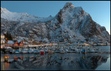 The small boats harbour in Svolvaer (HDR)