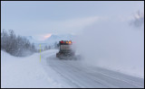 Difficult driving conditions!  -19 degrees Celcius approaching Lapporten from Narvik