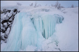 Frozen waterfall at Riksgränsen