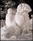 British Ice Sculpture Snow Puffin (Annaly/Bolland) in Kiruna