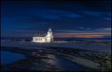 Nesseby church at Varanger fjord - Norway