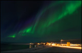 A northern light with different colors - St Ekkeröya east of Vardø Norway