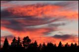 Fire like evening sky near Kalmar