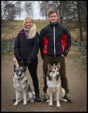 Madelene & Sebastian with Simba & Acke at Bergkvara