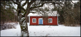 Hökaryd - Old cottage in the forest near Huseby (3 files panorama)