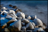 Frozen stones in Arild harbor - Scania
