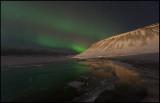 Northern light near Grundarfjördur