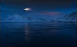 Moonshine at dawn near Bjarnarhöfn / Grundarfjördur