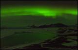Northern light over Jökulsarlon