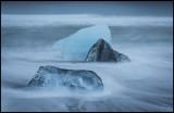 Ice formations on Jökulsarlon beach