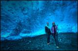 Mother & Daughter in the deep part of Crystal Cave - Breidamerjökul