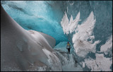 Leaving the Crystal Ice Cave  - Breidamerjökul