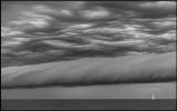 A front of extreme thunder moving in to Kalmarsund near Grönhögen - Öland