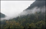Mountain view a rainy day