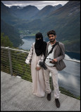 Saudi tourists (!) at Örnesvingen Geiranger