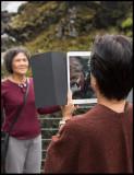 iPad Photo on Flåm railroad