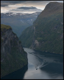 The local ferry coming to Geiranger