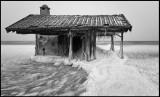 NE winterstorm wiped away the walls of this sauna in Össby