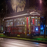 Canal St Trolley at night