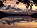 Sunrise over Waterton Lake. Alberta.