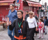 Our guide at Montmartre