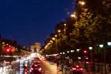 Rainy Paris at night