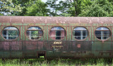 Vintage train on display at train museum