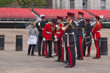 British military rehearsing for the Queen's Birthday Parade