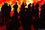 Near the flames