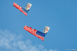 Flags in the sky