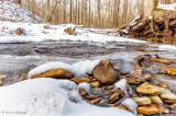 Snow, rocks, water